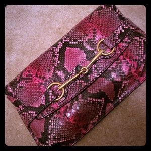 Large clutch python and boots